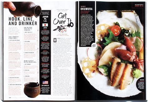 layout magazine food the daily edit los angeles magazine andrea bricco a