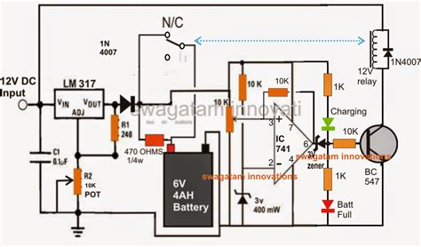 lm317 battery charger circuit diagram 6v battery charger circuit with indicator circuit