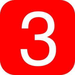 3 Red Rounded Square With Number 3 Clip Art At Clker Com