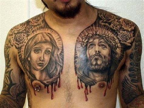 religious chest tattoos tattoo collections