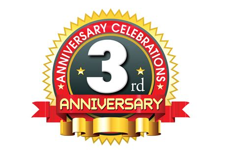3rd anniversary images 3rd anniversary logo template with ribbon psdfiles in psd templates psd backgrounds