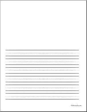 Print Lined Paper For First Grade