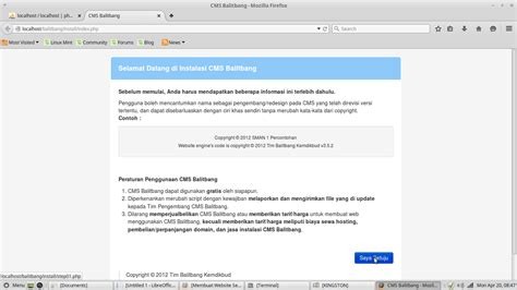 membuat website org membuat website sekolah menggunakan cms balitbang pada