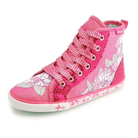 summer harmony s pink sparkle canvas shoe boot