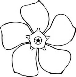Flower Outline by Periwinkle Flower Top View Clip At Clker Vector Clip Royalty Free