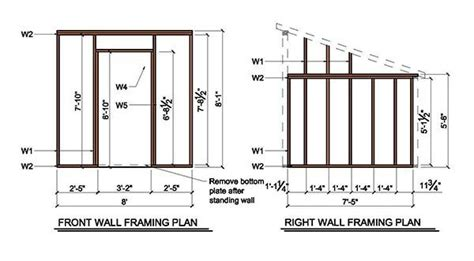 Cost To Build Floor Plans by 8 215 8 Lean To Shed Plans Amp Blueprints For Garden Shed