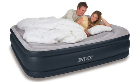 intex or pillow rest airbed raised air mattress bed with 67737e ebay
