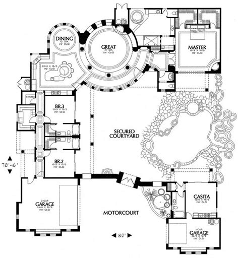 courtyard floor plans 25 best ideas about courtyard house plans on