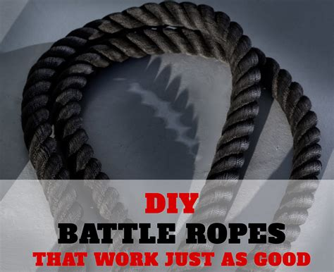 build you own home diy battle ropes make your own battle ropes and save money