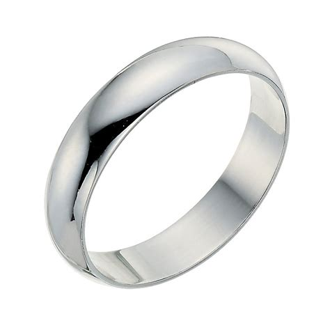 9ct white gold 4mm wedding ring ernest jones