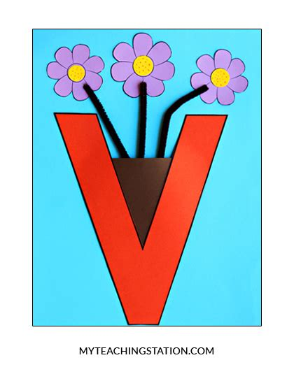 V Is For Vase by Letter V Craft Vase Myteachingstation