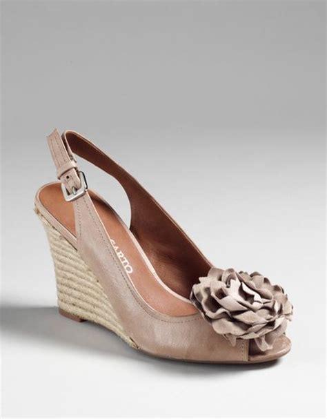 Wedges Slip On Bunga Salem franco sarto salem rosette espadrille sandals in beige