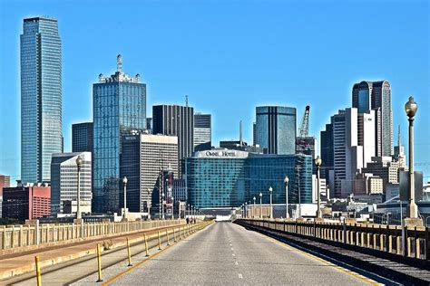 Cityscape Curtains The Road To Dallas Texas Photograph By Skyline Photos Of