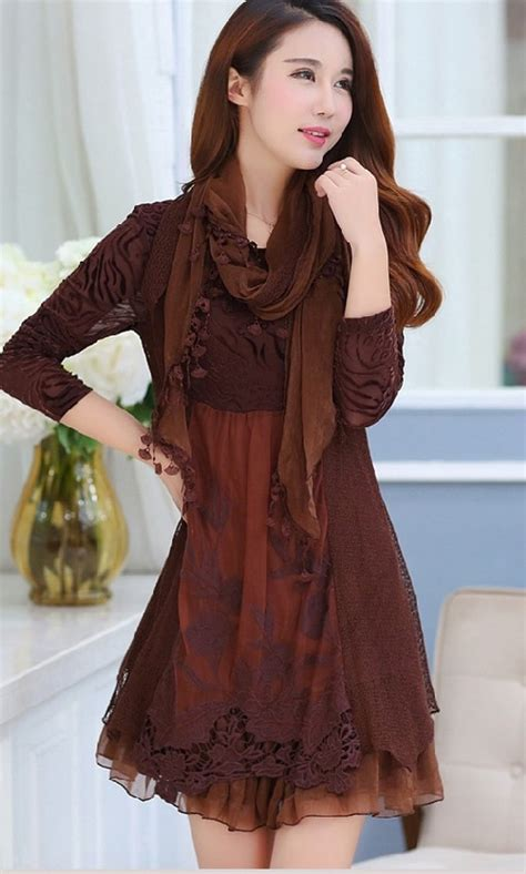 fashion tips for mid age plus size dresses fall winter lace middle age mother dress plus size