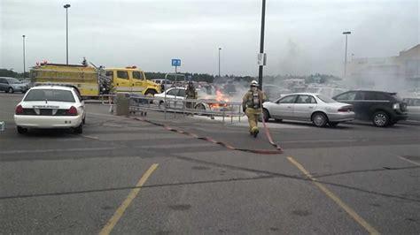 walmart parking lot walmart parking lot car fire youtube