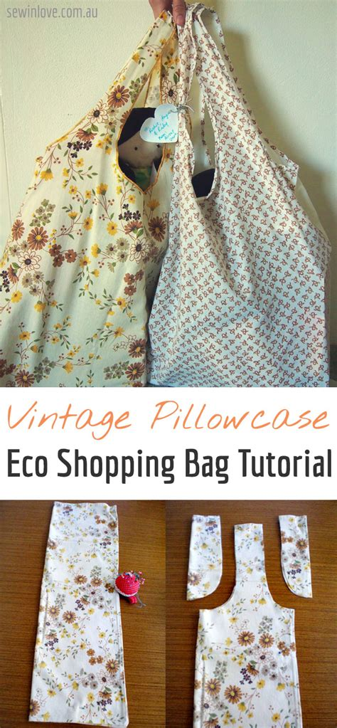 Take It Easy Eco Bag how to make eco shopping bag from an pillowcase sew