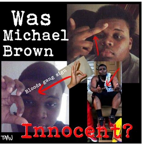 Ferguson Michael Brown Criminal Record Michael Brown S Signs Photos Make Him A Thug Like Trayvon Martin Claim