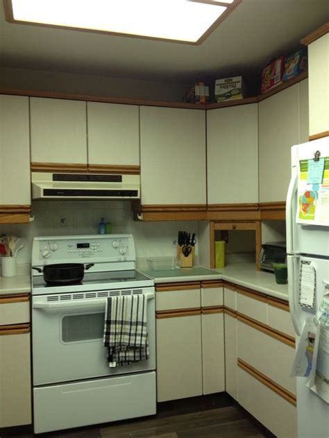 kitchen dilemmas add trim to laminate cabinets home everydayentropy com