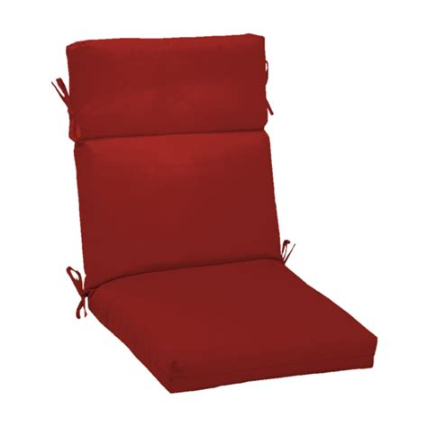 shop red standard patio chair cushion at lowes com
