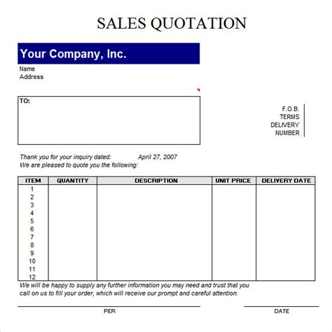 quotation template xls quotation template 14 free documents in pdf