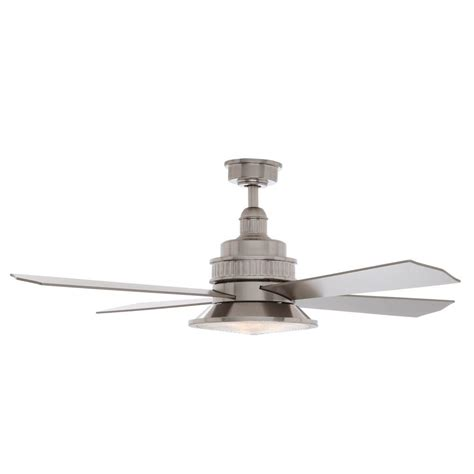 hugger 52 in brushed nickel ceiling fan hugger nickel hton bay ceiling fans ceiling