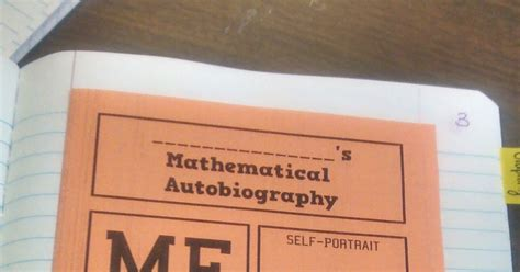 biography and autobiography foldable math love mathematical autobiography foldable