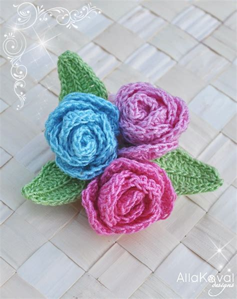 free pattern to crochet a rose 1000 images about flores de croch 202 on pinterest crochet