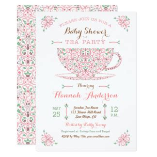 Tea Baby Shower Invitation Wording by Tea Baby Shower Invitations Announcements Zazzle
