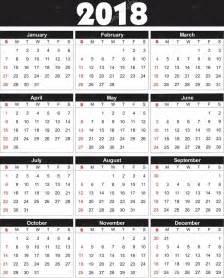 Kalender 2018 Vector Kalender 2018 I Vektor Kan Omvandlas Till Valfri Storlek
