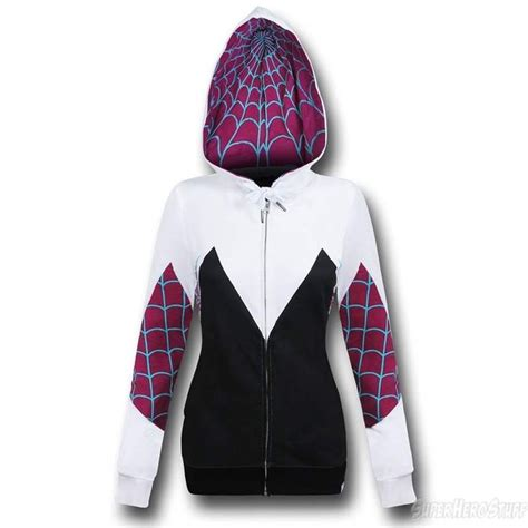 Sweater Hoodie Kanji Costume spider gwen costume zip up hoodie