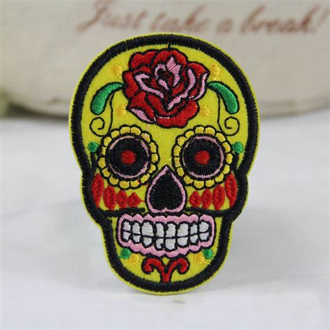 upholstery patches diy skull patch patch embroidered iron on patch sew motif
