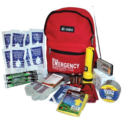 sos one person deluxe emergency survival kit backpack