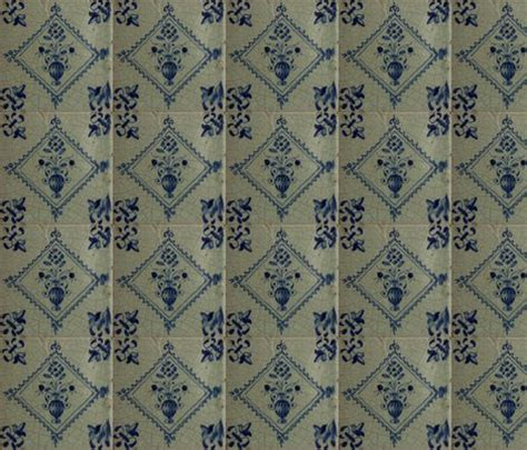 fabric vase pattern classic delft blue ceramic tile inspired pattern floral