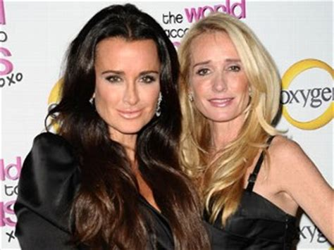 what is the issue between kim and kyle richards what is the secret about adrienne maloof that brandi told