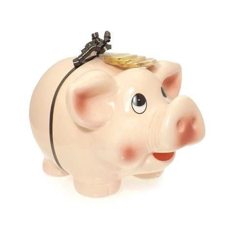 piggy bank with money large piggy bank money box