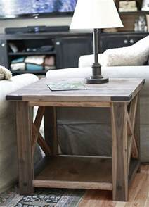 Diy Side Table by 25 Diy Side Table Ideas With Lots Of Tutorials 2017