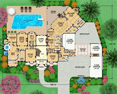 versailles florida floor plan versailles 4525 9 bedrooms and 8 baths the house designers