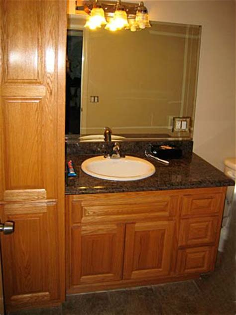 Premade Bathroom Cabinets Bathroom Cabinets From Darryn S Custom Cabinets Serving