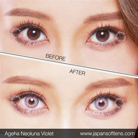 Softlens Gel Ageha Soft Lens Gel Ageha Dia 15mm Water 55 Korea Terl softlens violet ageha neoluna violet japan softlens
