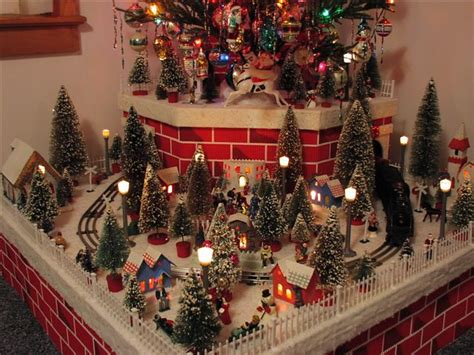 animated christmas village with train houses display ideas happy holidays