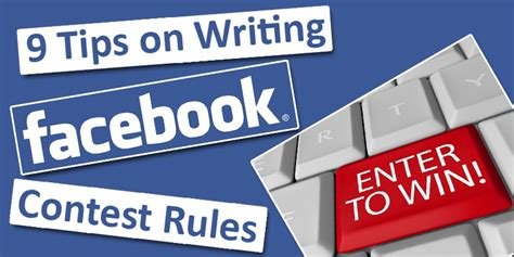 Giveaway Facebook Rules - tips on how to write facebook contest rules