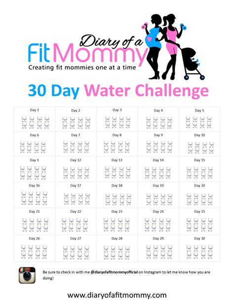 water challenge diet diary of a fit mommy30 day water challenge diary of a