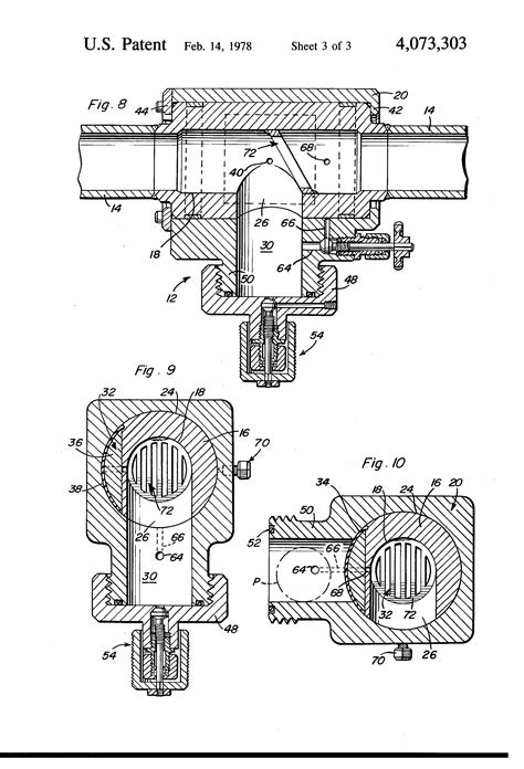 Patent US4073303 - Oil field pig launcher and receiver