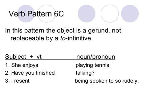verb pattern talk verb patterns