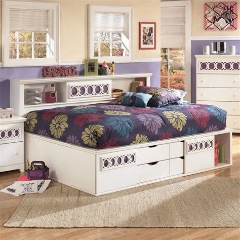 ashley furniture white bed signature design by ashley furniture zayley captain s bed