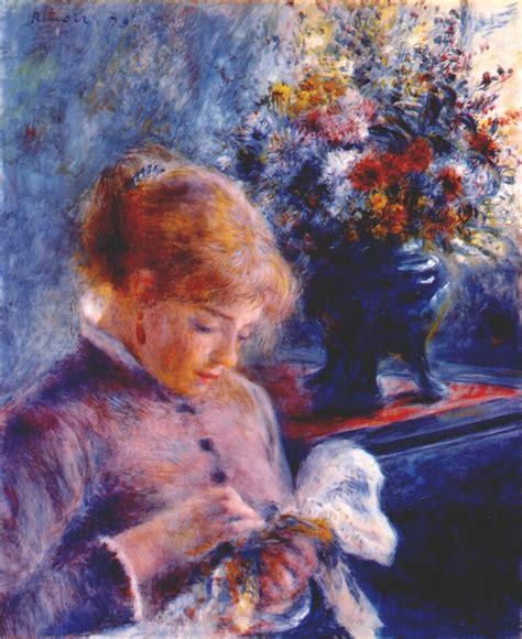renoir basic art album renoir young woman sewing 171 renoir pierre auguste 171 artists more 171 art might just art
