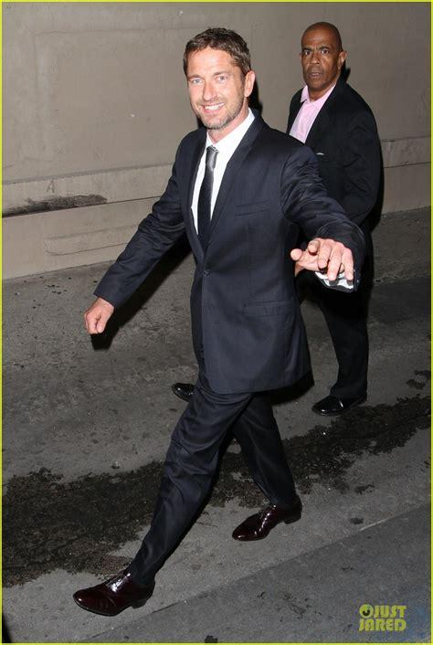 lol jimmy kimmel shares exclusive photo of beyonc 233 gerard butler hudgens jimmy kimmel promoting