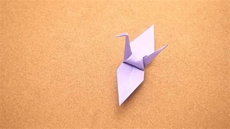 Origami Crane Gum Wrapper - how to fold a paper crane
