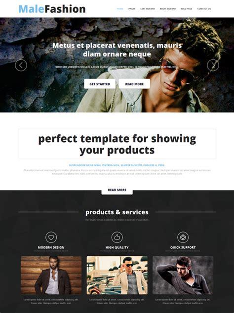 Male Fashion Website Template Male Fashion Website Templates Dreamtemplate Fashion Website Template