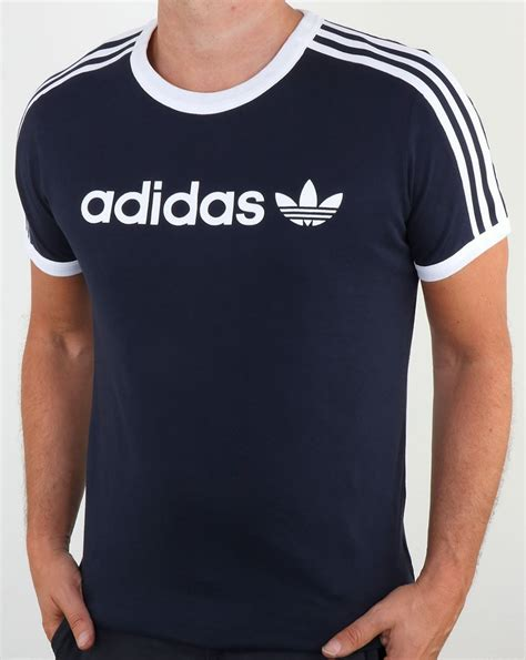 Tshirt L A P D adidas navy t shirt l d c co uk